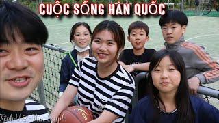 [Hàn Quốc] KHÁM PHÁ KHU MÌNH SỐNG, Chơi bóng rổ và gặp trẻ em Hàn Quốc cực dễ thương