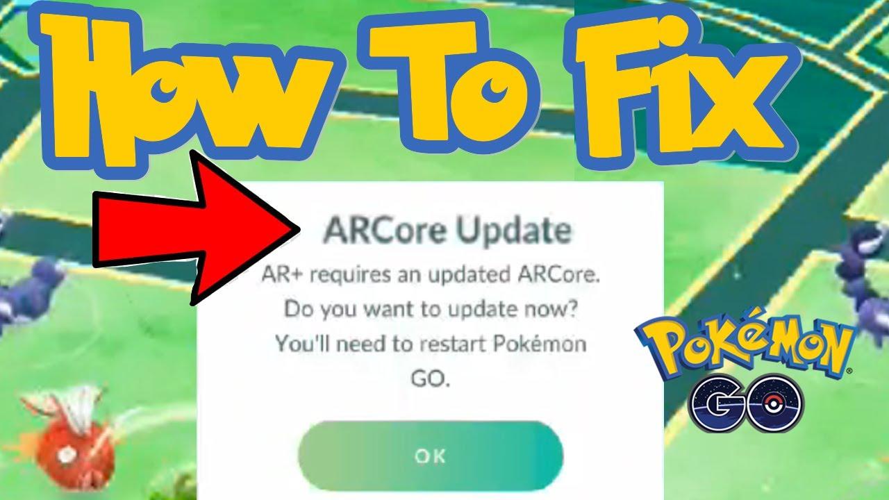 How To Fix AR CORE UPDATE - Pokemon GO