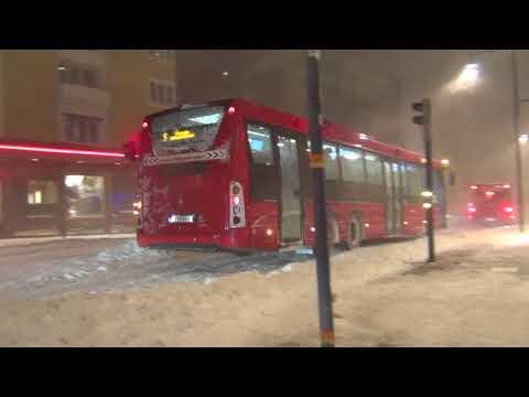 Storm i Norrbotten och Luleå. Tors 23 nov, 2017.
