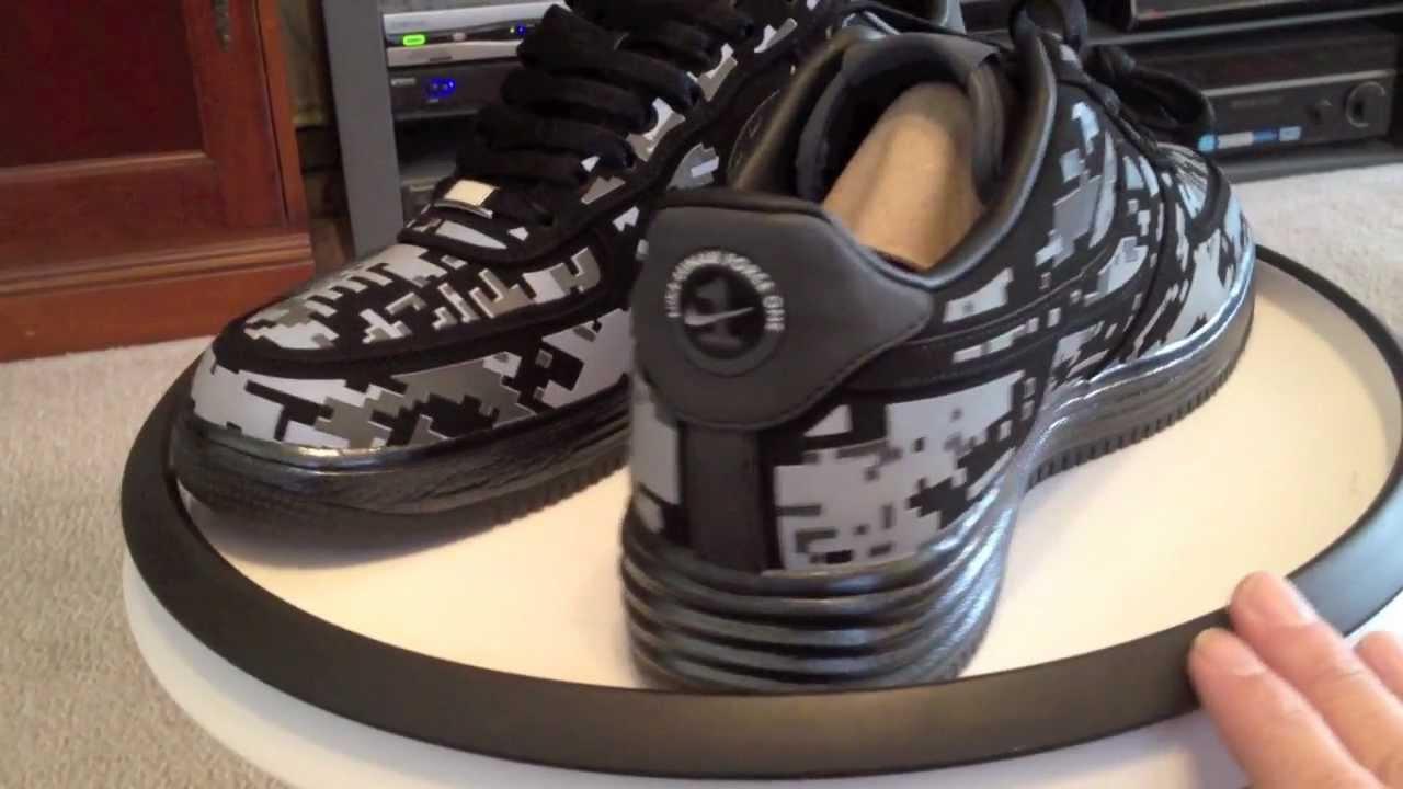 Nike Lunar Force 1 Digi Camo NRG - Black   Reflective Silver   Dark Grey  colorway - YouTube 52e9ff86d