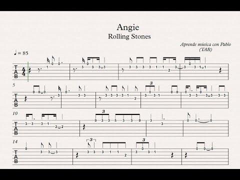 ANGIE:  TAB (guitarra...) (tablatura con playback)