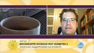 Ny svensk studie – därför skyddar bryggkaffe mot diabetes 2 - Nyhetsmorgon (TV4)