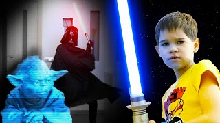 Star Wars the Rise of Skywalkers.  Kids play Star Wars with Darth Vader (Parody)