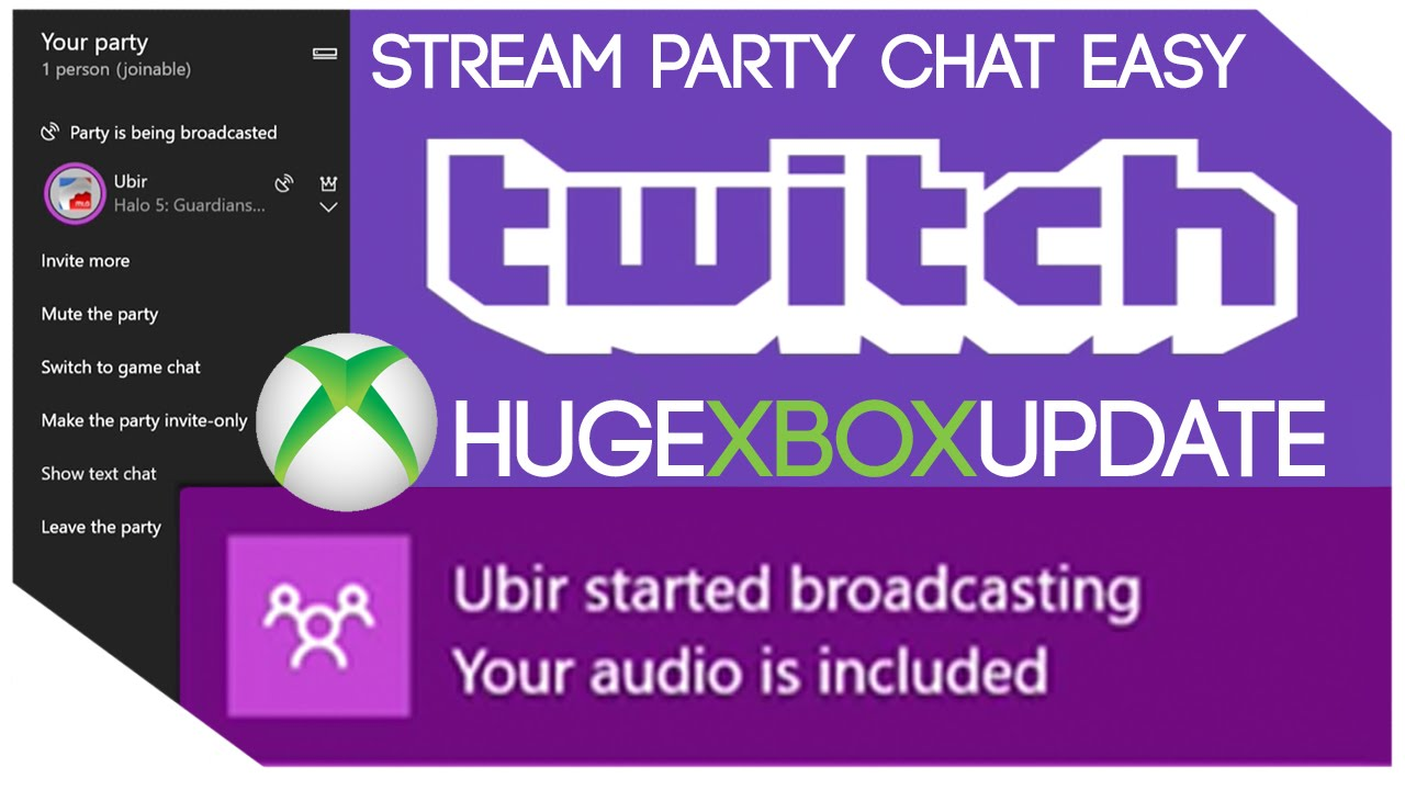 How to Twitch Stream Party Chat on Xbox One | NO EQUIPMENT