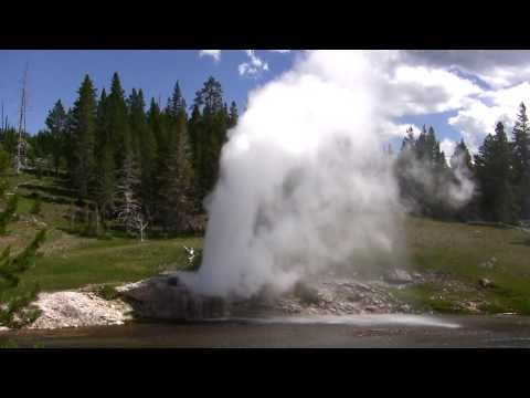 Compilation of geyser eruptions in Yellowstone NP, Wyoming, USA