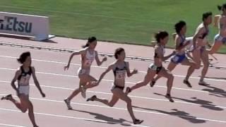 福島千里選手 100m走動作(スロー) 11秒36 福島千里 検索動画 16