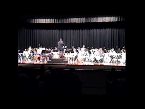 2005-12-06 Drew in Christmas band concert at Tupelo Middle School in Tupelo, Mississippi