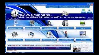 Watching Streaming TV & Radio Blue HTV Software Download