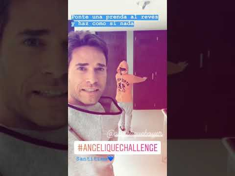 Sebastian Rulli llama al #AngeliqueChallenge