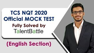TCS NQT 2020 Official Mock Test Fully Solved | English Section