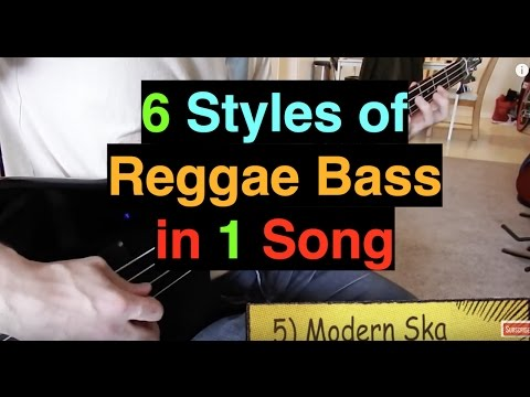 6 Styles of Reggae Bass in 1 Song