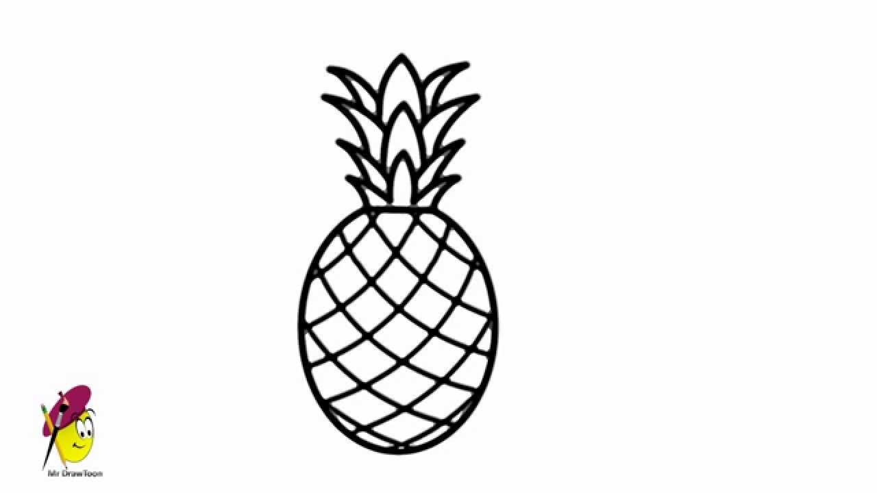 Pineapple How To Draw Pineapple Easy Drawing Youtube
