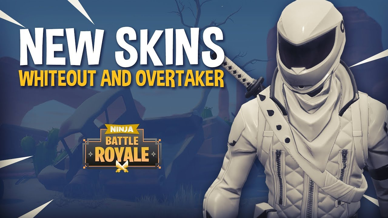 New Whiteout And Overtaker Skins Fortnite Battle Royale Gameplay