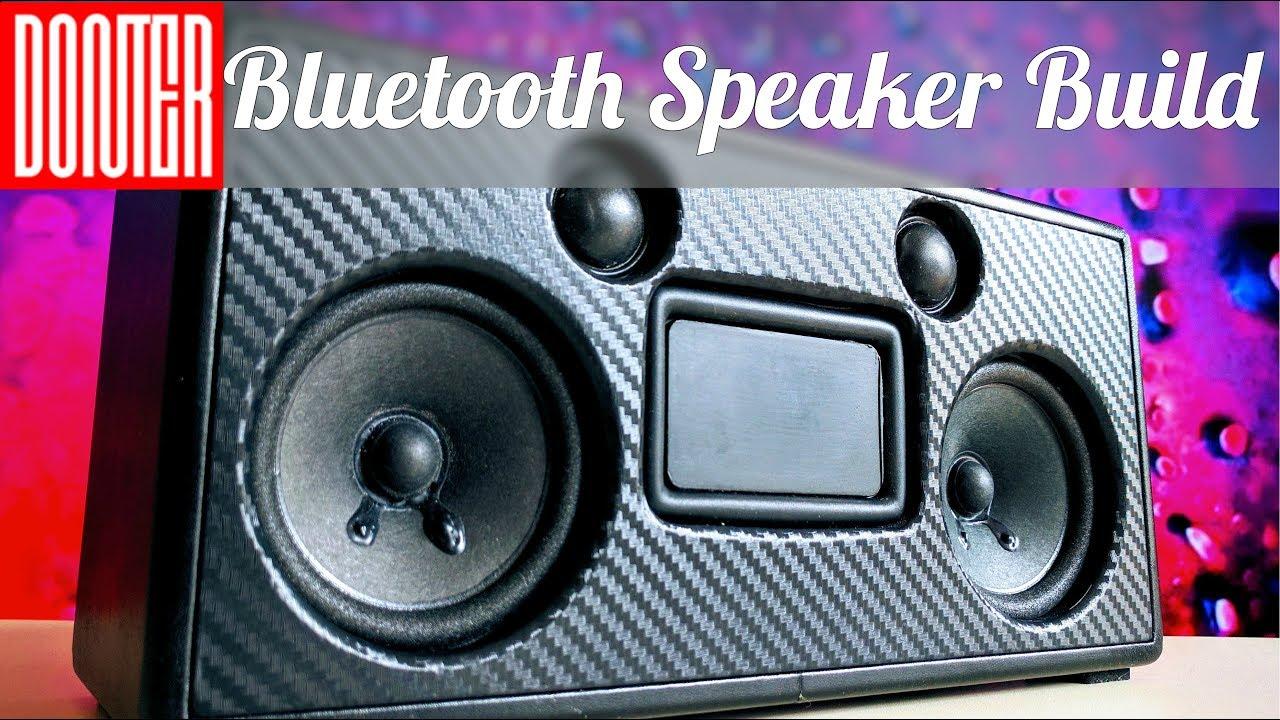 DIY Portable Bluetooth Speaker Build   Carbon and Vinyl  YouTube