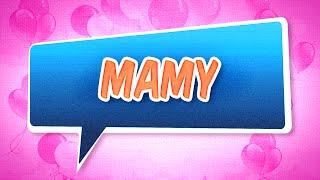 Joyeux anniversaire Mamy