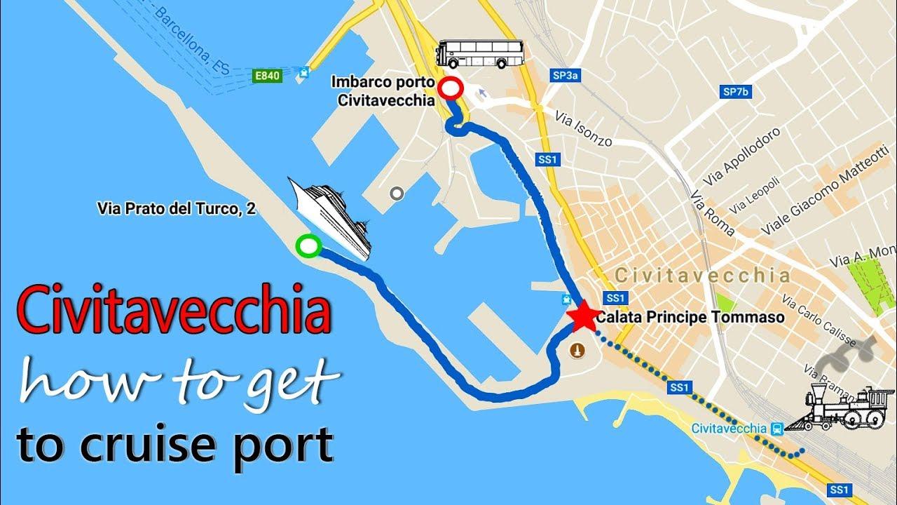 How to get to cruise port civitavecchia 2018 shuttle bus - Port of civitavecchia cruise terminal ...