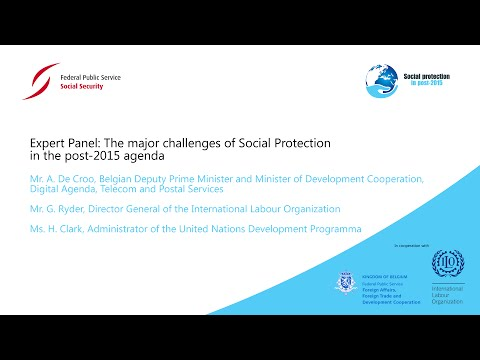 High Level Panel: The major challenges of Social Protection in the post-2015 agenda