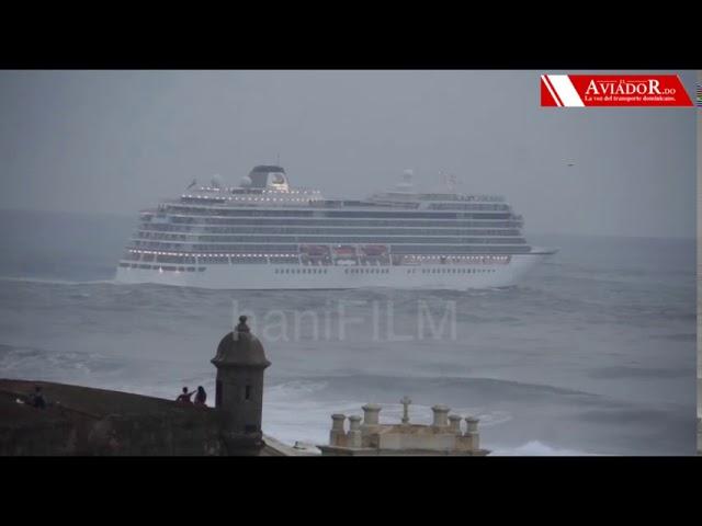 Crucero desafia historica marejada 2018 San Juan Puerto Rico