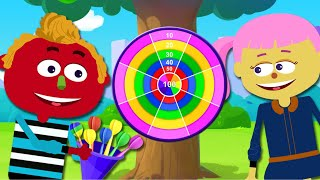 Let's Play Darts! Fun Colors For Kids | Nursery Rhymes and Baby Songs by Teehee Town