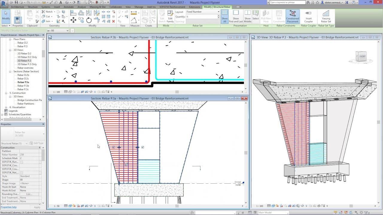 12 Revit - Modeling reinforcement in Bridge Piers