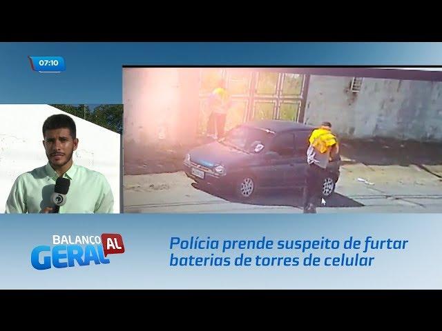Polícia prende suspeito de furtar baterias de torres de celular