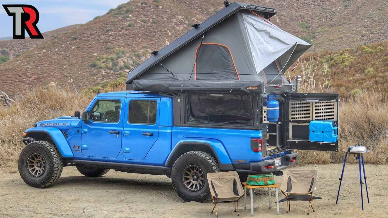 A Jeep Gladiator with a FIREPLACE, a TOILET and MORE - Overland Build