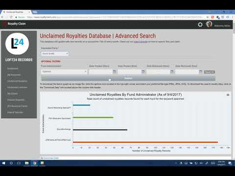 Royalty Claim Platform v1.0 - How to Create Keywords and Search Unclaimed Royalties