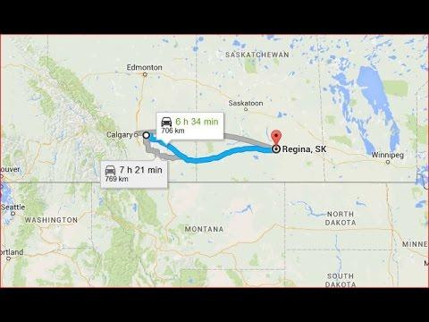 Strathmore AB to Regina SK in 7 minutes Canada
