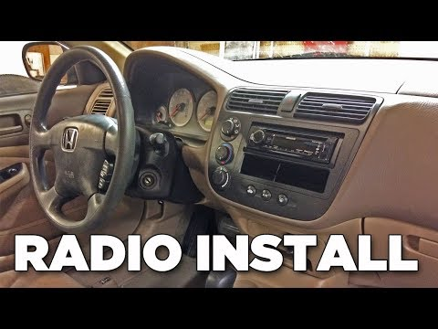 How To Install Radio In 2001-2005 Civic (Detailed Installation) | Project EM2