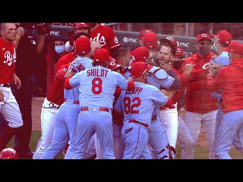 Benches Clear   St. Cardinals Cardinals vs Cincinnati Reds
