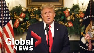 """We have to be remembered for what's been done"" says Trump in New Year's video message"