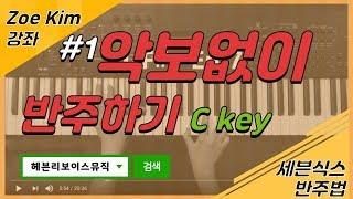 #1 악보 안보고 반주하는 훈련(C key)