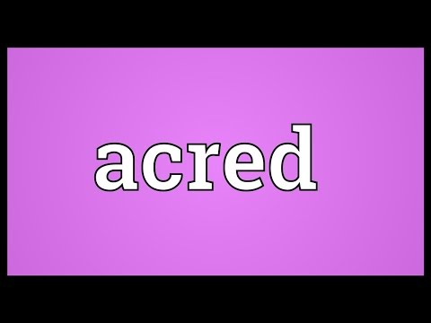 Header of acred