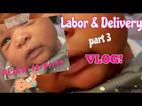 Labor & Delivery Part 3 Vlog: I feel like a zombie | Crissyjsway