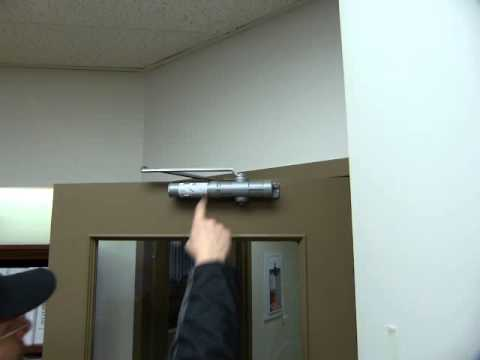 Door Closer Adjustments Lcn 1640 1641 Model Youtube