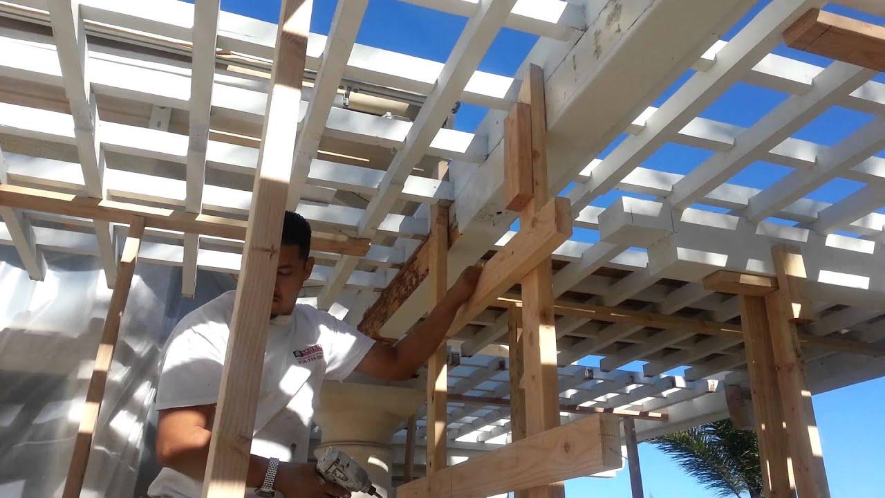 Malibu Wood Beam Repair Patio Overhang Shafran Construction 818