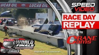 Crazy Ed Foley crashes into the wall -PDRA World Finals