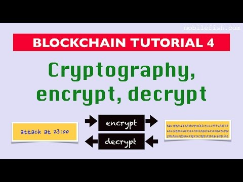Blockchain Tutorial 4: Cryptography, Encrypt, Decrypt