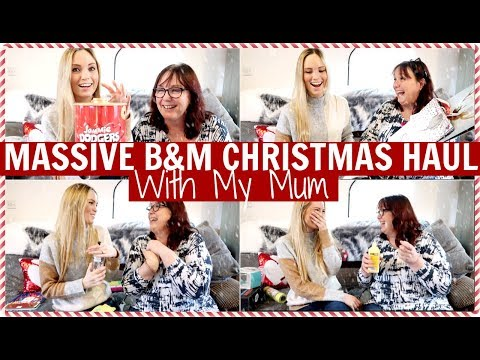 MASSIVE B&M CHRISTMAS HAUL WITH MY MUM | Alex Gladwin