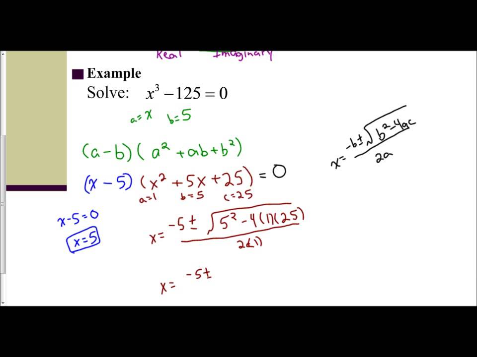 Lesson 65 Introduction To Solving Cubic Equations Youtube