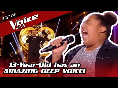 This Girl's DEEP VOICE Makes Coaches Turn Very Quickly In The Voice Kids!