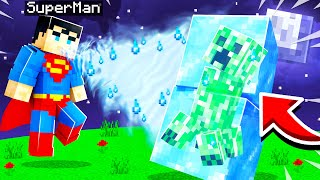 Playing as SUPERMAN in MINECRAFT! (one punch mobs)