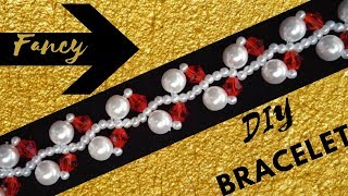 Fancy bracelet. Beaded jewelry making tutorial