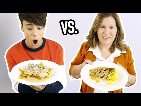 i cooked DINNER vs. my MOTHER !!! lmao