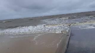 Orkan Xavier trifft  auf die Nordseeküste 2017