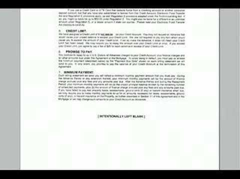Equity Line Of Credit Agreement Youtube