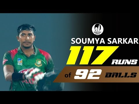 Soumya Sarkar's 117 Run's Against Zimbabwe || 3rd ODI || Zimbabwe tour of Bangladesh 2018