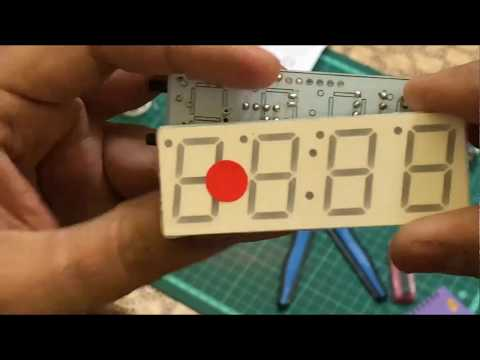 How To Assembling 4 Digit LED Electronic Clock Kit || By Atechtechnology