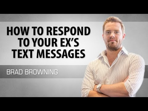 how to respond to your ex's text messages