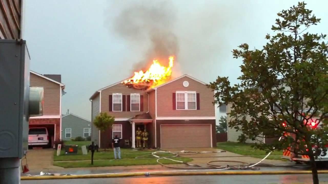 lightning house fire - YouTube